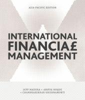 new book, title: International financial management / Jeff Madura, Ariful Hoque, Chandrasekhar Krishnamurti.