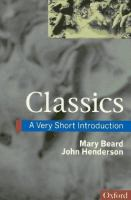new book, title: Classics [electronic resource] : a very short introduction / Mary Beard & John Henderson.