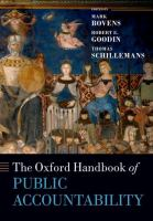 new book, title: Oxford handbook of public accountability.