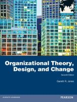 new book, title: Organizational theory, design, and change / Gareth R. Jones.