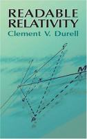new book, title: Readable relativity / Clement V. Durell.