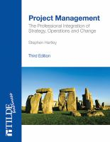 new book, title: Project management : integrating strategy, operations and change / Stephen Hartley.