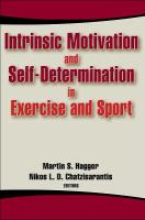 new book, title: Intrinsic motivation and self-determination in exercise and sport [electronic resource] / [edited by] Martin S. Hagger, Nikos L.D. Chatzisarantis.