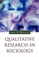 new book, title: Qualitative research in sociology [electronic resource] : an introduction / Amir B. Marvasti.