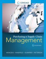 new book, title: Purchasing and supply chain management / Robert M. Monczka, Robert B. Handfield, Larry C. Giunipero, James L. Patterson.