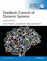 new book, title: Feedback control of dynamic systems / Gene F. Franklin, J. David Powell, Abbas Emami-Naeini; Gobal edition contributions by Sanjay H. S.