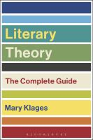 new book, title: Literary theory : the complete guide / Mary Klages.