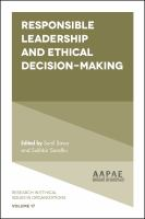 new book, title: Responsible leadership and ethical decision-making [electronic resource] / edited by Sunil Savur, School of Management, University of South Australia, Adelaide, Australia ; Sukhbir Sandhu, School of Management, University of South Australia, Adelaide, Australia.