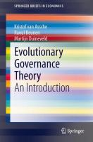 new book, title: Evolutionary governance theory : an introduction / Kristof Van Assche, Raoul Beunen, Martijn Duineveld.