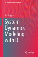 new book, title: System Dynamics Modeling with R [electronic resource]
