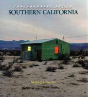 new book, title: Contemporary art in Southern California / Mark Johnstone.