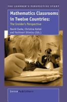 new book, title: Mathematics classrooms in twelve countries : the insider's perspective / edited by David Clarke, Christine Keitel , Yoshinori Shimizu.