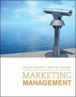 new book, title: Marketing management / Greg W. Marshall, Mark W. Johnston.