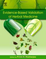 new book, title: Evidence-based validation of herbal medicine [electronic resource] / edited by Pulok K. Mukherjee, School of Natural Product Studies, Department of Pharmaceutical Technology, Jadavpur University, Kolkata, India.