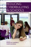 new book, title: Reducing cyberbullying in schools [electronic resource] : international evidence-based best practices / edited by Marilyn Campbell, Queensland University of Technology (QUT), Brisbane, QLD, Australia, Sheri Bauman, University of Arizona, Tucson, AZ, USA.