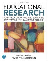 new book, title: Educational research : planning, conducting, and evaluating quantitative and qualitative research / John W. Creswell, Timothy C. Guetterman,