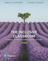 new book, title: The inclusive classroom : strategies for effective differentiated instruction / Margo A. Mastropieri, George Mason University, Thomas E. Scruggs, George Mason University.
