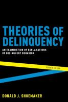 new book, title: Theories of delinquency [electronic resource] : an examination of explanations of delinquent behavior / Donald J. Shoemaker.