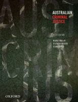 new book, title: Australian criminal justice / Mark Findlay, Stephen Odgers, Stanley Yeo.