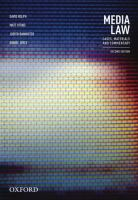 new book, title: Media law : cases, material and commentary / David Rolph, Matt Vitins, Judith Bannister, Daniel Joyce.