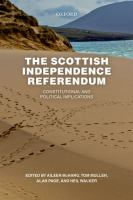 new book, title: The Scottish independence referendum [electronic resource] : constitutional and political implications / edited by Aileen McHarg, Professor of Public Law, University of Strathclyde; Tom Mullen, Professor of Law, University of Glasgow; Alan Page, Professor of Public Law, University of Dundee; Neil Walker, Regius Professor of Public Law and the Law of Nature and Nations, University of Edinburgh.