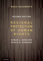 new book, title: Regional Protection of Human Rights: Documentary Supplement [electronic resource]