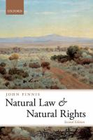 new book, title: Natural law and natural rights [electronic resource] / John Finnis.