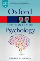 new book, title: A dictionary of psychology / Andrew M. Colman.