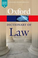 new book, title: A dictionary of law.