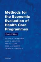 new book, title: Methods for the economic evaluation of health care programmes.