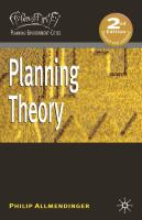 new book, title: Planning theory / Philip Allmendinger.
