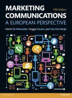 new book, title: Marketing Communications [electronic resource]: A European Perspective
