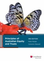 new book, title: Principles of Australian equity and trusts / Peter Radan, Cameron Stewart.
