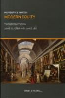 new book, title: Hanbury and Martin modern equity / Jamie Glister, Associate Professor, Faculty of Law, the University of Sydney; James Lee, Senior Lecturer in Private Law, Dickson Poon School of Law, King's College London, Associate Academic Fellow of the Honourable Society of the Inner Temple.