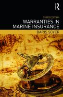 new book, title: Warranties in marine insurance [electronic resource] / Baris Soyer.