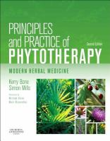 new book, title: Principles and practice of phytotherapy [electronic resource] : modern herbal medicine / Kerry Bone, Simon Mills ; forewords Michael Dixon, Mark Blumenthal.