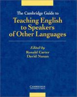 new book, title: The Cambridge Guide to Teaching English to Speakers of Other Languages [electronic resource]
