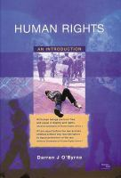 new book, title: Human rights [electronic resource] : an introduction / Darren J. O'Byrne.