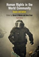new book, title: Human rights in the world community : issues and action / edited by Burns H. Weston and Anna Grear.