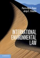 new book, title: International environmental law : an introduction / Pierre-Marie Dupuy, Jorge E. Vinuales.