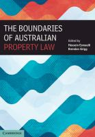 new book, title: The boundaries of Australian property law / edited by Hossein Esmaeili and Brendan Grigg.