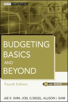 new book, title: Budgeting basics and beyond [electronic resource] / Jae K. Shim, Joel G. Siegel, Allison I. Shim.