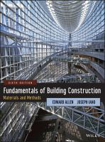 new book, title: Fundamentals of building construction [electronic resource] : materials and methods / Edward Allen and Joseph Iano.