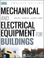 new book, title: Mechanical and electrical equipment for buildings / Walter T. Grondzik, Alison G. Kwok.