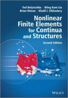 new book, title: Nonlinear finite elements for continua and structures [electronic resource] / Ted Belytschko, Wing Kam Liu, Brian Moran,  Khalil I. Elkhodary.