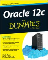 new book, title: Oracle 12c for Dummies [electronic resource]