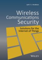 new book, title: Wireless Communications Security [electronic resource]: Solutions for the Internet of Things