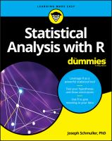 new book, title: Statistical analysis with R [electronic resource] / by Joseph Schmuller, PhD.