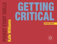 new book, title: Getting critical.