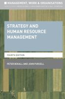 new book, title: Strategy and human resource management / Peter Boxall and John Purcell.